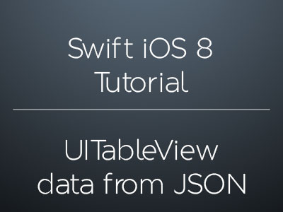 Swift UITableView: Load data from JSON