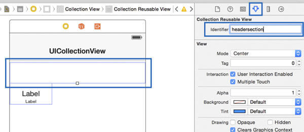 UICollectionView custom cell layout: how to define a custom