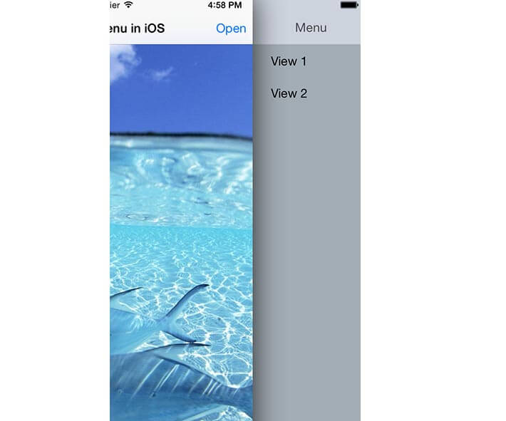iOS side menu tutorial