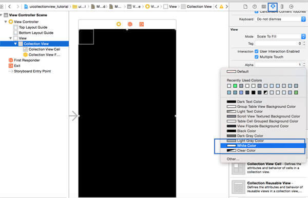 UICollectionView custom cell layout: how to define a custom cell