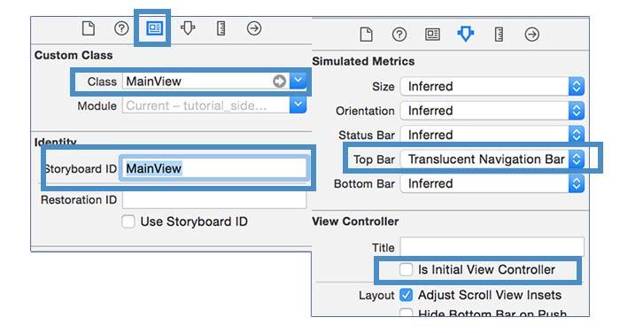 Swift Side menu tutorial: how to create a custom side menu