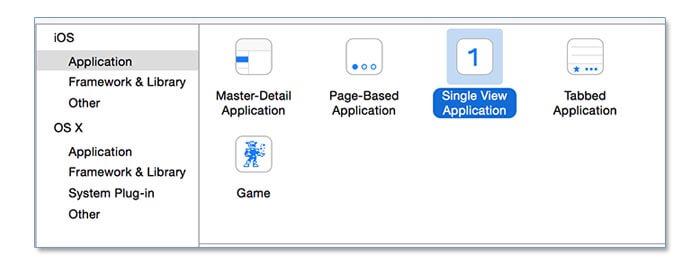 Swift: Create a new single view app