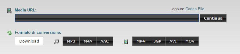 clipconverter: come salvare audio da youtube