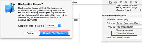 Swift disable use Size Classes