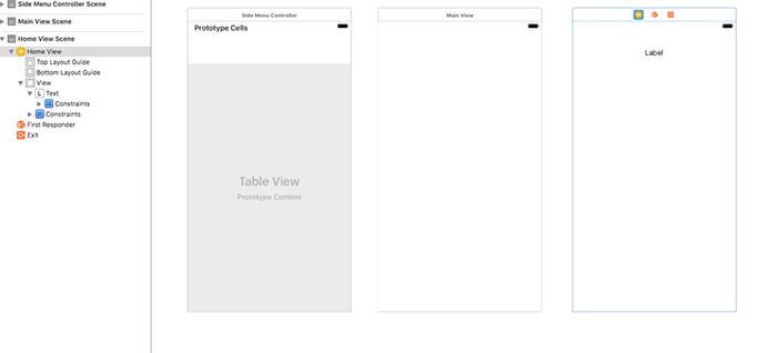 Swift 3 side menu initialization