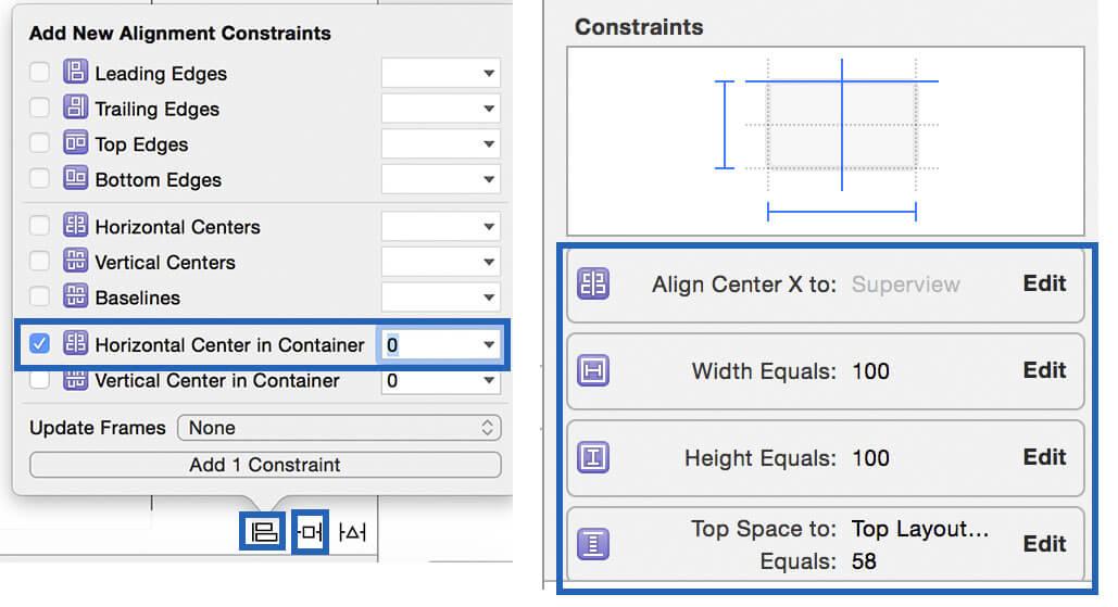 swift: add uiimageview constraints