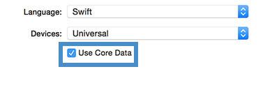 Swift: Turn core data on