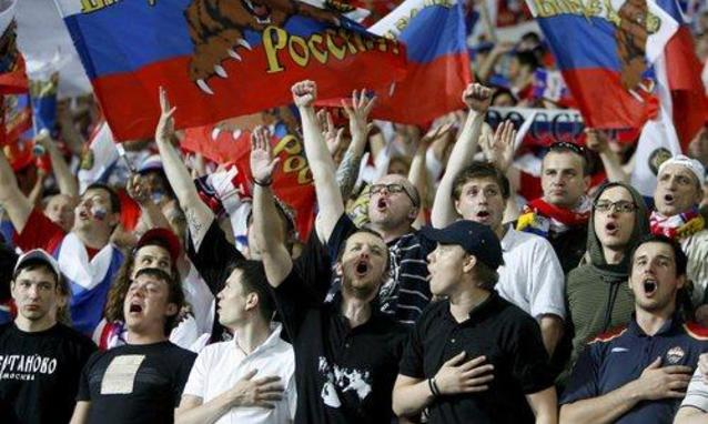 Inghilterra-Russia, partita di calcio